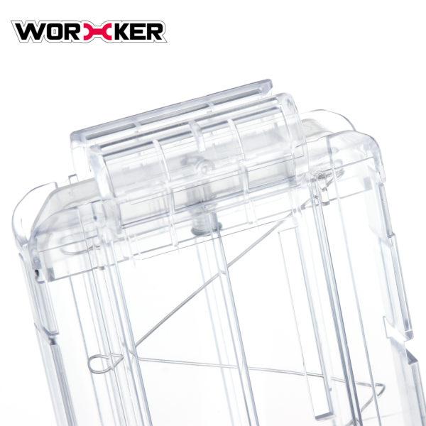Worker magazijn voor 22 pijltjes transparant