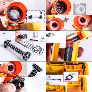 Worker 9kg Spring Upgrade Kit voor Nerf LongShot installatie