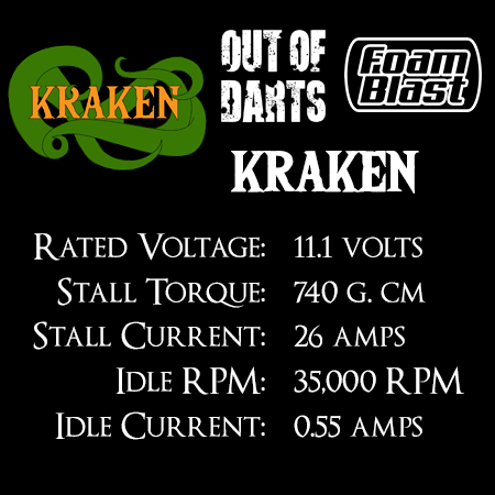 Out Of Darts Kraken motor (130-formaat 3S) Specificaties