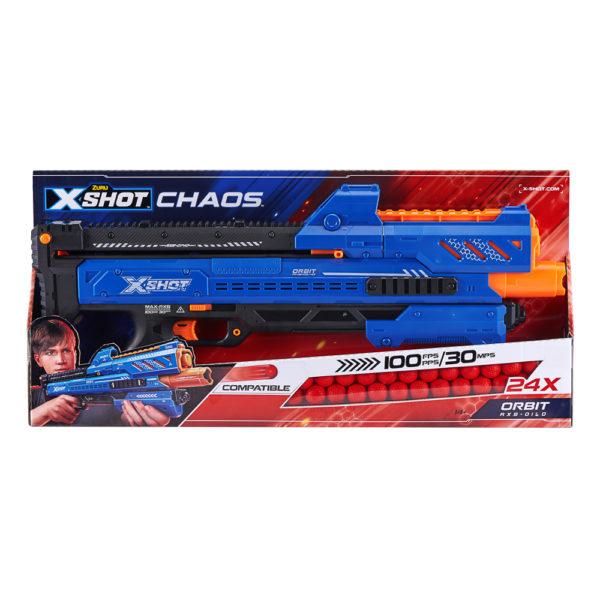 Zuru X-Shot Chaos Orbit Dart Balletjes Blaster Pistool Verpakking