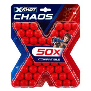 Zuru X-Shot Dart Ball Blaster Pistool Balletjes Chaos 50 Refill Verpakking