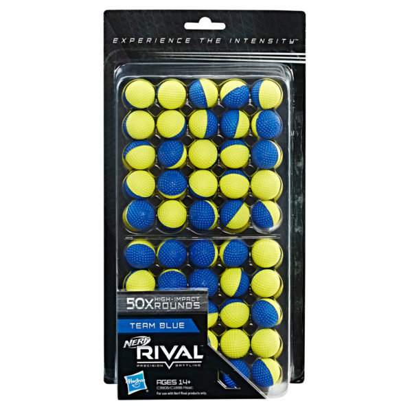 NERF Rival Refill - 50 Rounds Blauw-Geel