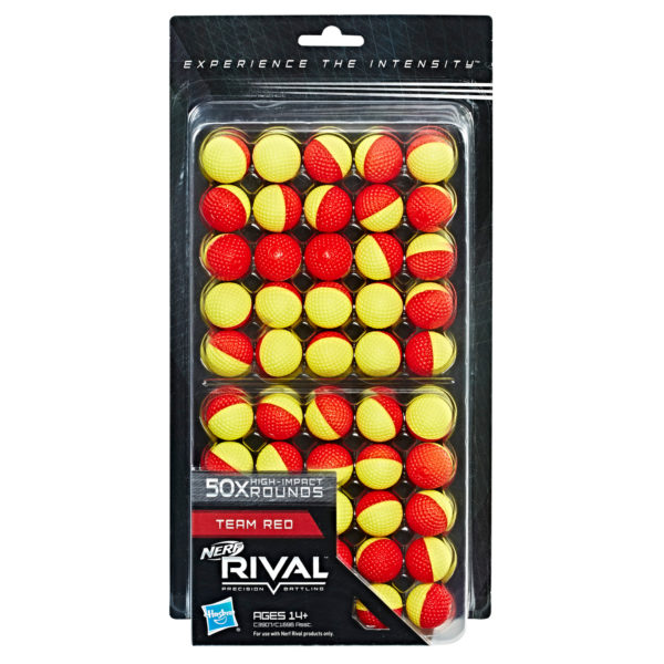 NERF Rival Refill - 50 Rounds Rood-Geel