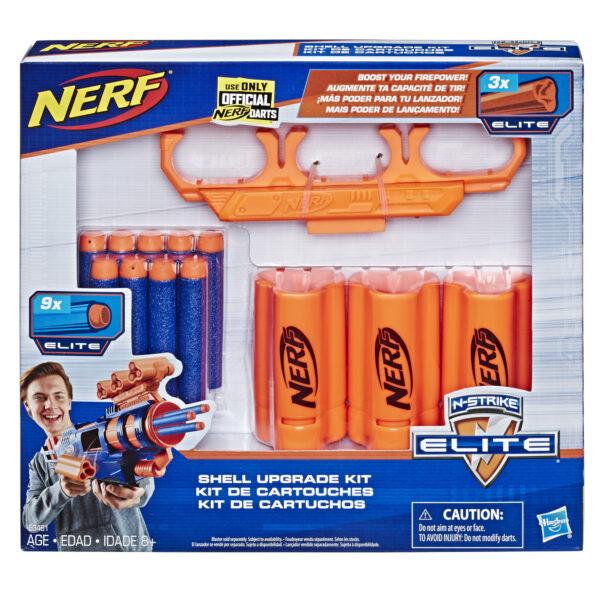 NERF Shell Upgrade Kit - 3 Shells, 9 Nerf Pijltjes, Shell Houder
