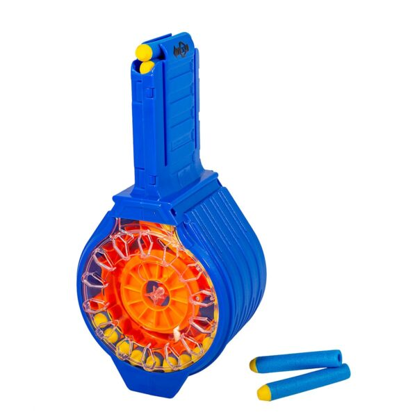 Blasterparts 30 Pijltjes Drum Trommel Magazijn for Nerf Blasters