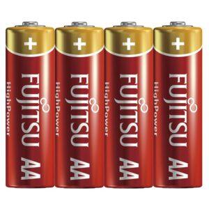 Fujitsu High Power Alkaline AA Batterij - 4 stuks