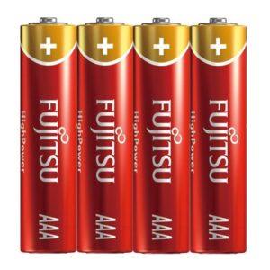 Fujitsu High Power Alkaline AAA Batterij - 4 stuks