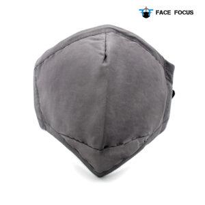 Face Focus Wasbaar Mondkapje Katoen Filter Vormbare Neusbrug Grijs