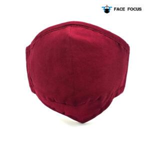 Face Focus Wasbaar Mondkapje Katoen Filter Vormbare Neusbrug Rood