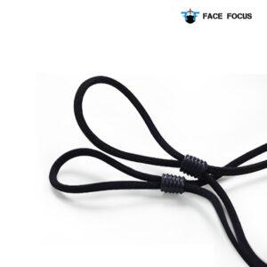 Face Focus Wasbaar Zwarte Mondkapje van Katoen - 2 stuks