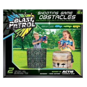 Blast Patrol Opblaasbare Obstakels - Groene Hindernis + Krat