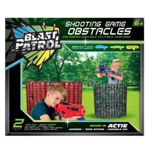 Blast Patrol Opblaasbare Obstakels - Rode Muur + Groene Hindernis