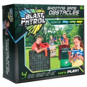 Blast Patrol Opblaasbare Obstakels Set - Muur + Hindernis + Kist + Vat