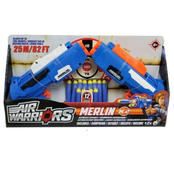 BuzzBee Air Warriors Merlin 2 Pack
