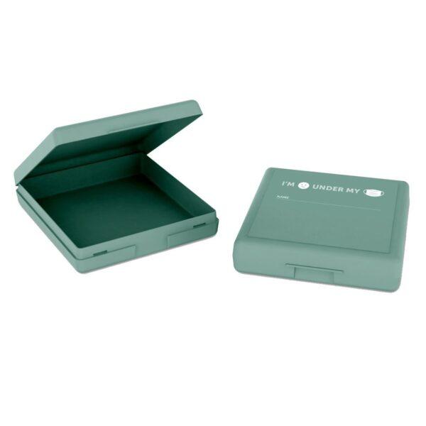 Bewaardoosje voor mondkapje - groen