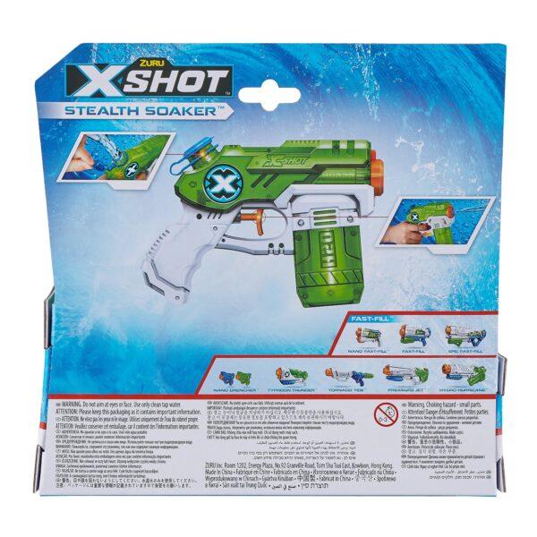 X-Shot Stealth Soaker Verpakking Achterkant