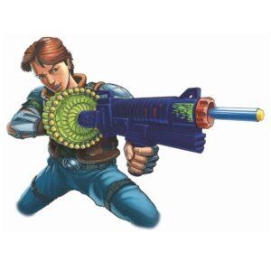BuzzBee Air Warriors Sidewinder - Blauw